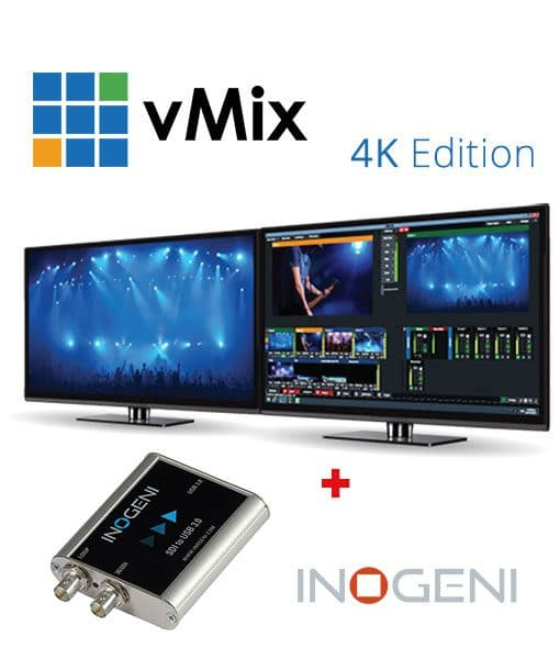 vMix 4K Live Production Bundle, Software + Inogeni USB 3 0 SDI Video Capture
