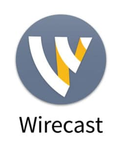 Wirecast live video streaming production