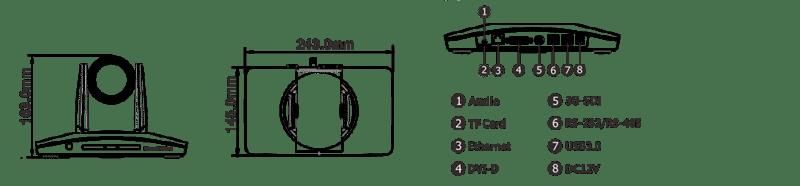 ismart ltc2 usb ptz auto tracking camera backpanel