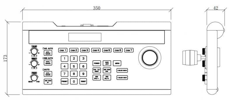 EVERET EVKB-100 PTZ IP controller