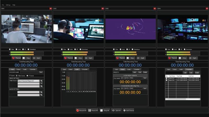 Marsis Ingest recording solution NDI IP SDI