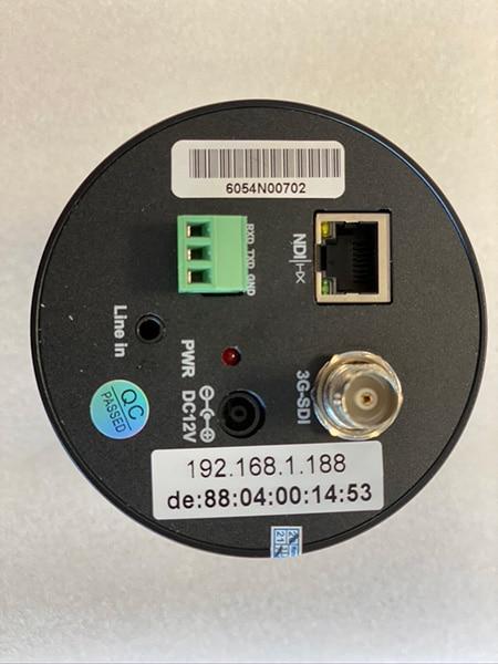 EVZ405N 4K NDI POV Camera Connections 3G-SDI NDI|HX LINE-IN AUDIO