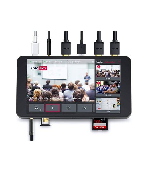 YoloLiv YoloBox Portable All-in-One Multi-Camera Live Streaming Encoder, Switcher, Monitor, Recorder