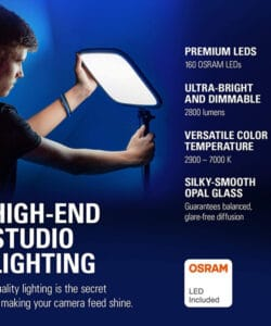 Elgato Key Light, Professional Studio LED Panel With 2800 Lumens