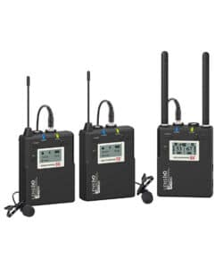 LENSGO LWM-338C LAVALIER / LAPEL WIRELESS MICROPHONE SET WITH TF CARD SLOT (2 TRANSMITTER + 1 RECEIVER)